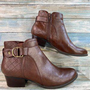 Unisa PierA2 Brown Zip Up Ankle Boots